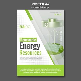Plakat dotyczący odnawialnych źródeł energii
