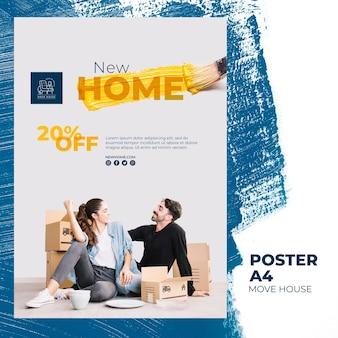 Plakat dotyczący usług przeprowadzki do domu