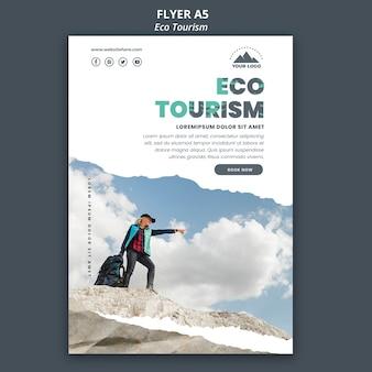 Plakat eko turystyka szablon