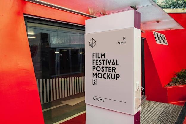 Plakat festiwalu filmowego mock-up