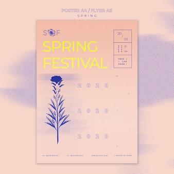 Plakat festiwalu muzyki wiosennej