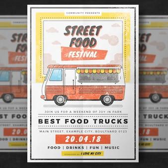Plakat festiwalu żywności ulicy