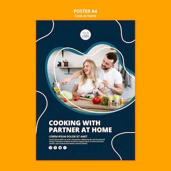 Plakat gotowania w domu