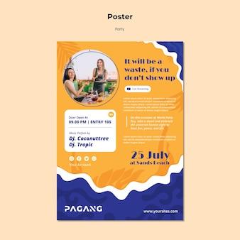 Plakat imprezowy na żywo