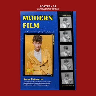 Plakat inspirowany filmem fotograficznym
