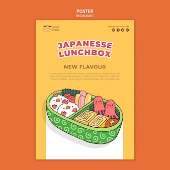 Plakat japońskiej restauracji lunchbox