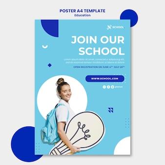 Plakat koncepcja edukacji