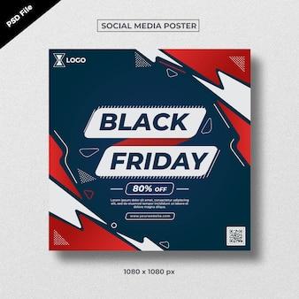 Plakat mediów społecznościowych w czarny piątek