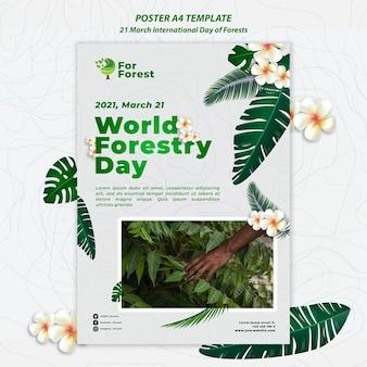 Plakat międzynarodowy dzień lasów