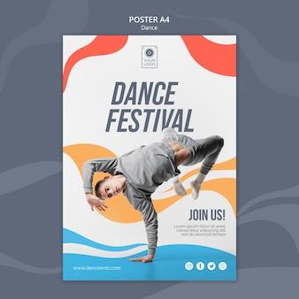 Plakat na festiwal tańca