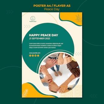 Plakat na międzynarodowy dzień pokoju