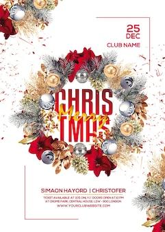 Plakat na przyjęcie bożonarodzeniowe