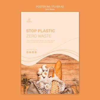 Plakat na zero odpadów