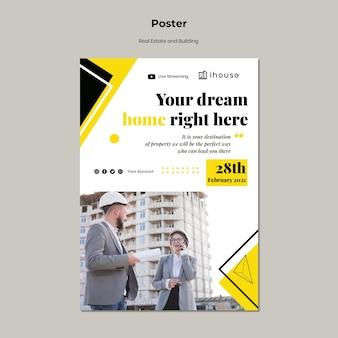 Plakat nieruchomości i budynku