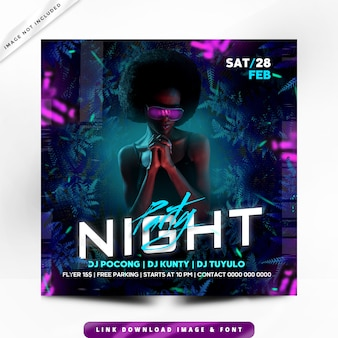 Plakat night party premium