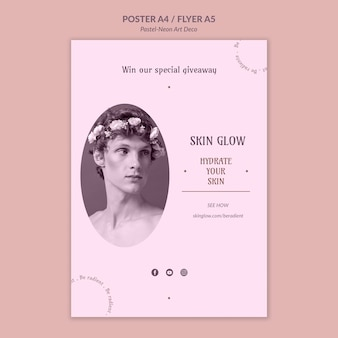 Plakat pastelowy szablon projektu neo-art