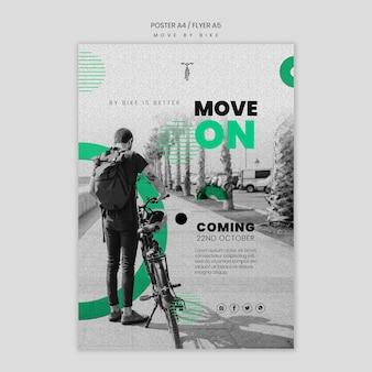 Plakat poruszaj się rowerem