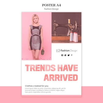 Plakat projektowania mody