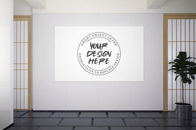 Plakat promocyjny na makiecie ściennej