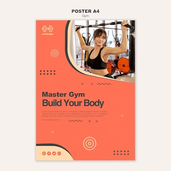 Plakat przedstawiający aktywność na siłowni