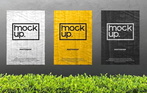 Plakat Reklamowy Na ścianie Realistyczna Makieta Premium Psd