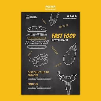 Plakat Restauracji Fast Food Premium Psd