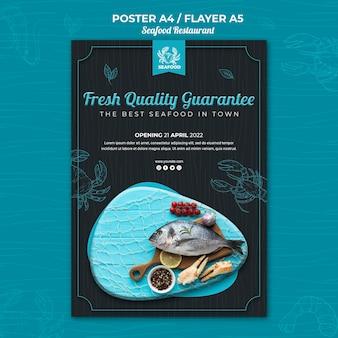 Plakat restauracji z owocami morza