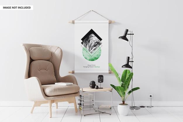 Plakat ścienny w makiecie siedzenia