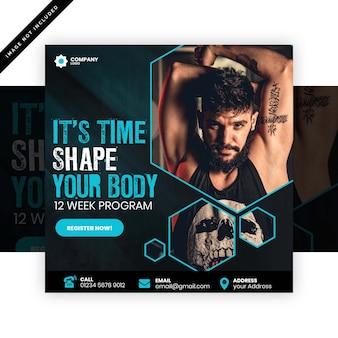 Plakat siłowni