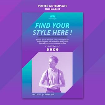 Plakat sprzedaży mody