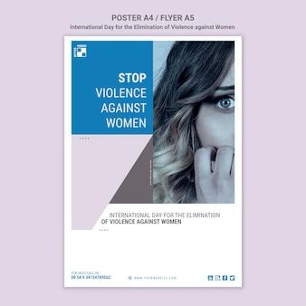 Plakat stop przemocy wobec kobiet