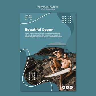 Plakat światowego dnia oceanu