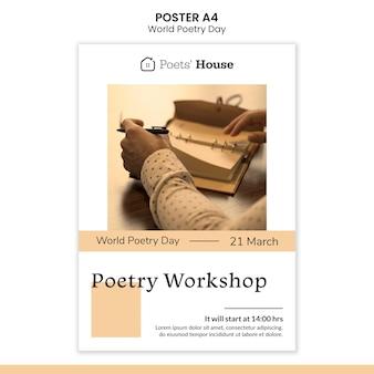 Plakat światowego dnia poezji