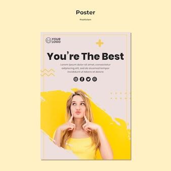 Plakat szablon pozytywizmu
