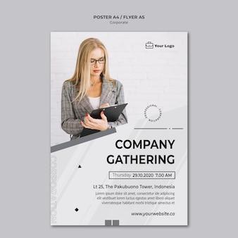 Plakat szablon projektu korporacyjnego