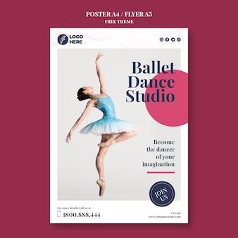 Plakat szablon studio tańca