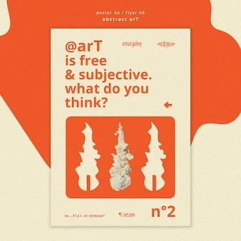 Plakat szablon sztuki abstrakcyjnej