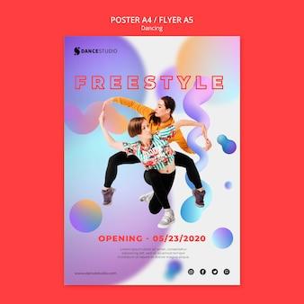 Plakat szablon z koncepcją tańca