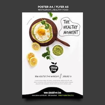 Plakat szablon zdrowej żywności