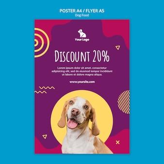 Plakat szablon żywności dla psów