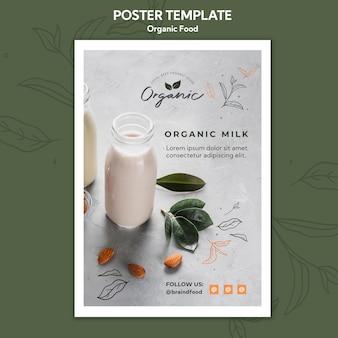 Plakat szablon żywności ekologicznej