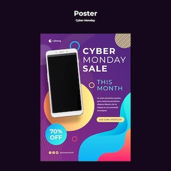 Plakat szablonu cyber poniedziałek