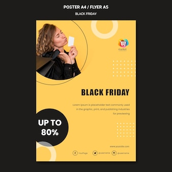 Plakat szablonu czarny piątek
