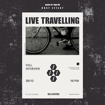 Plakat szablonu podróży na żywo