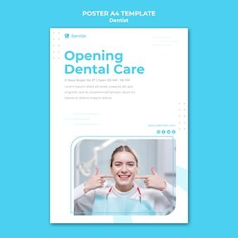 Plakat szablonu reklamy dentysty