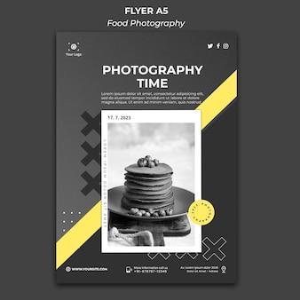 Plakat szablonu reklamy fotografii żywności