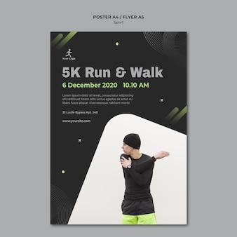 Plakat szablonu reklamy treningu fitness