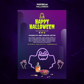 Plakat szablonu reklamy wydarzenia halloween