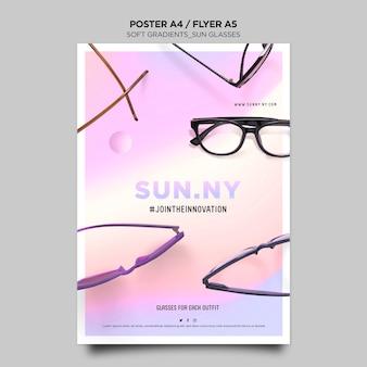 Plakat szablonu sklepu okulary przeciwsłoneczne
