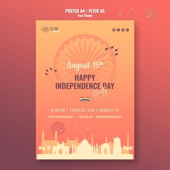 Plakat szczęśliwy dzień niepodległości